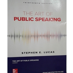 ART OF PUBLIC SPEAKING 11e