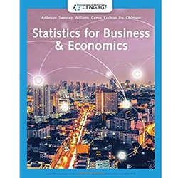STATISTICS FOR BUSINESS AND ECONOMICS, 13e.  WITH XLSTAT EDUCATION EDITION ACCESS CARD