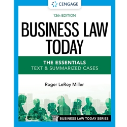 BUSINESS LAW TODAY: THE ESSENTIALS, 12e.
