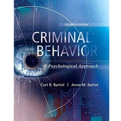 CRIMINAL BEHAVIOR- A PSYCHOSOCIAL APPROACH 11e