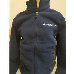 B&S UNISEX FULL ZIP FLEECE (NAVY BLUE)