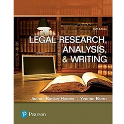 LEGAL RESEARCH, ANALYSIS AND WRITING 5e
