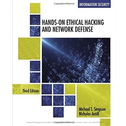 HANDS ON ETHICAL HACKING AND NETWORK DEFENSE, 3e.